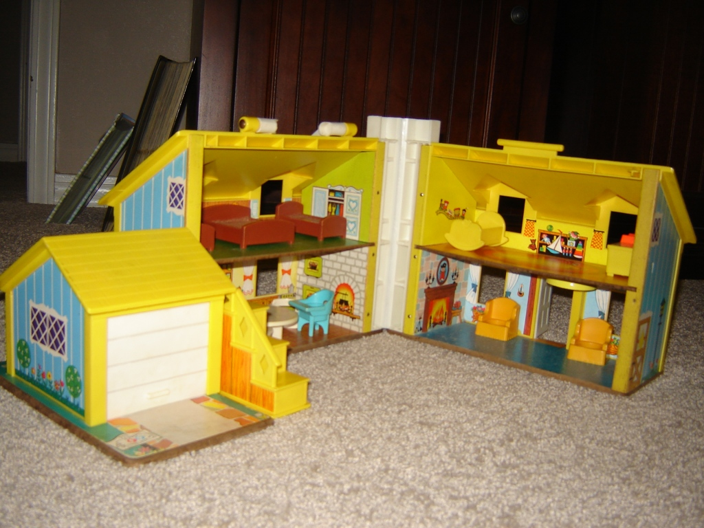 "This Little People house is an example of ""they don't make them like they used to."" The miniature furniture, the detailed interior, the garage door that opens and closes, and a front door that rings... It's all so much better than the newer, bulkier version."